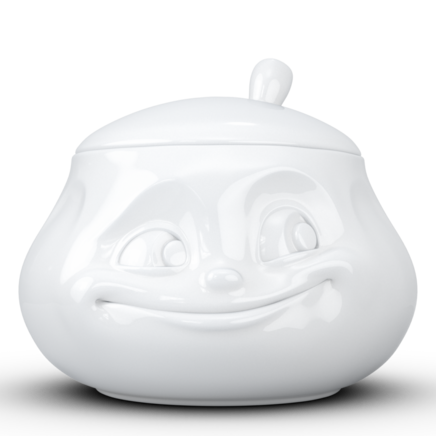 "Sugar bowl ""Sweet"" in white, 400 ml"