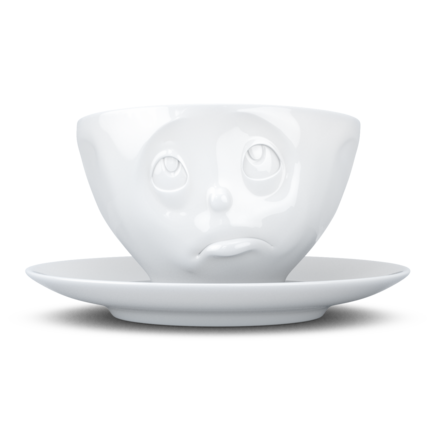 "Coffee cup, ""Oh Please!"", white"