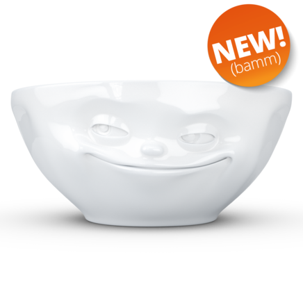 Bowl Grinning 350 ml white