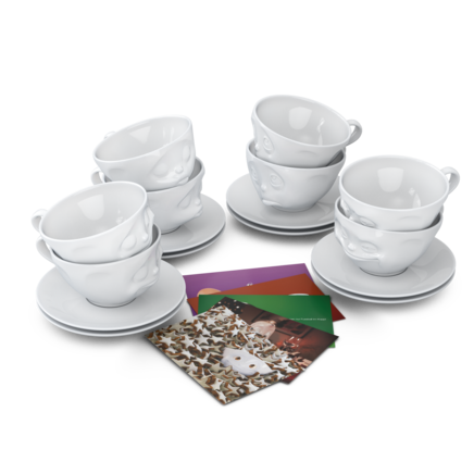 Cups, 8-piece set, white