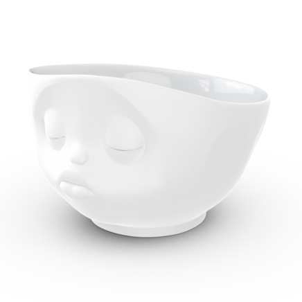 Bowl, kissing, matted white