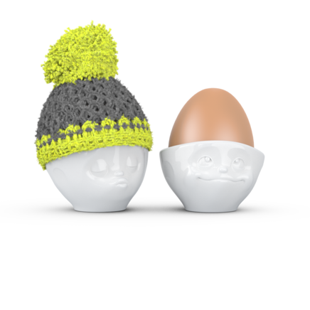 Egg cup hat grey/lime
