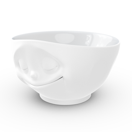 Bowl happy matted white