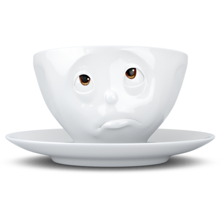 Coffee Cup - Oh Please! with colorful eyes