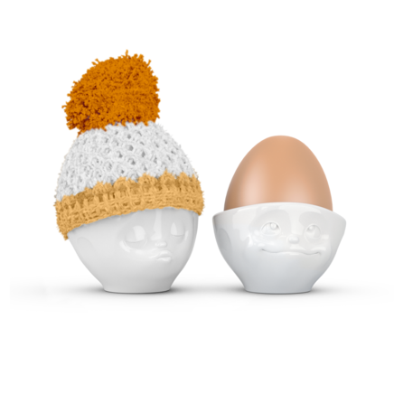 Egg cup hat apricot/buttercup