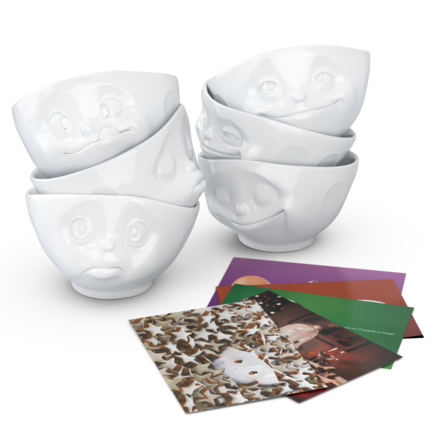 Bowls, 6-piece set, white 500 ml