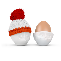 Egg cup hat red/coral