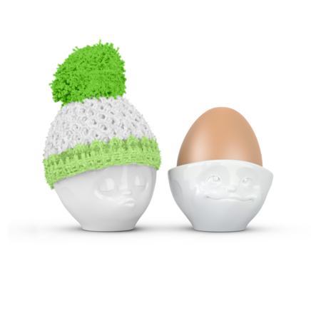 Egg cup hat apple/mint