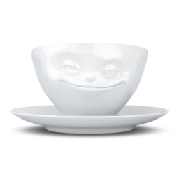 "Coffee Cup ""Grinning"" white, 200 ml"