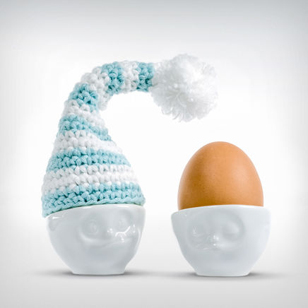Good Night Cap Egg hat white/blue
