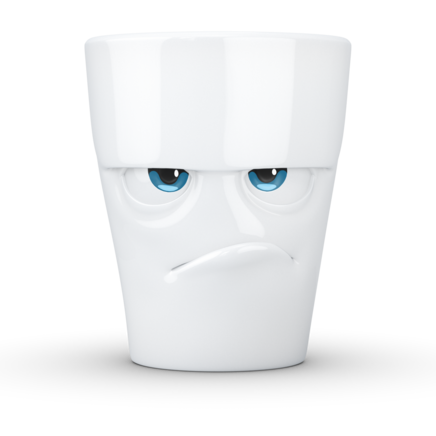 "MUG with handle ""Grumpy"" with colorful eyes, 350 ml"