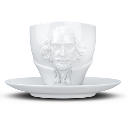 "TALENT cup ""William Shakespeare"" in white, 260 ml"