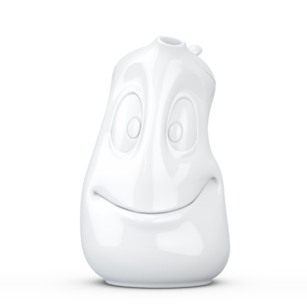 "Tea pot ""Good Mood"" in white, 1200 ml"