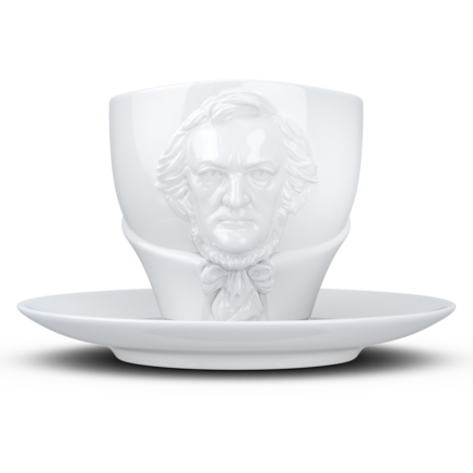 "TALENT cup ""Richard Wagner"" in white, 260 ml"