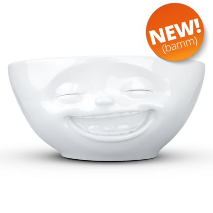 Bowl Laughing 350 ml white