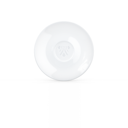 Saucer for coffee cup, white