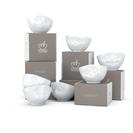 Bowls, 7-piece set, white 500 ml