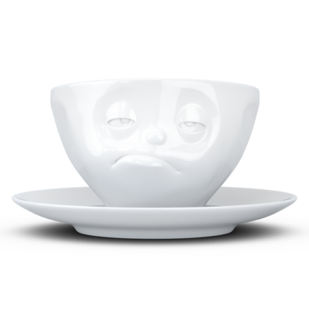 Coffee Cup, Snoozy, white