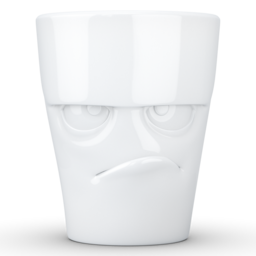 "MUG with handle ""Grumpy"" white, 350 ml"