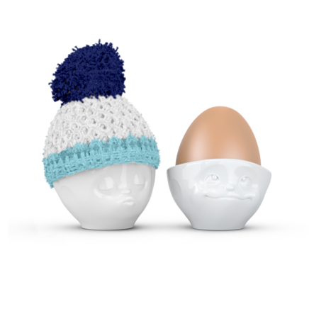Egg cup hat navy blue/sky blue