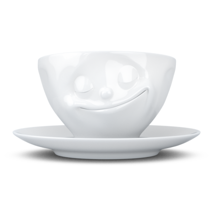 "Coffee Cup ""Happy"" white, 200 ml"
