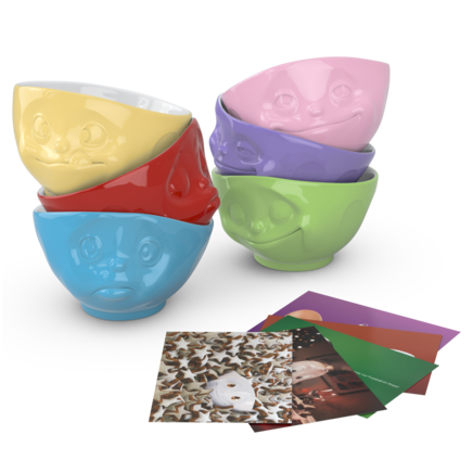 Bowls, 6-piece set, assorted colors 500 ml