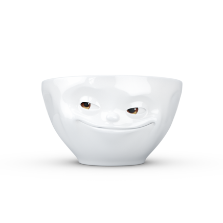 "Medium bowl ""Grinning"" with colorful eyes, 200 ml"