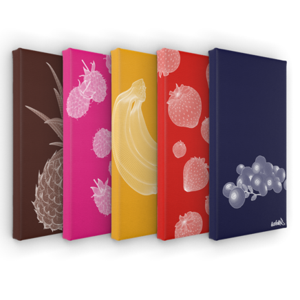 Art on Canvas Polygonal Cuisine Set 40cm x 20cm