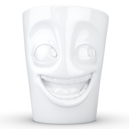 "MUG with handle ""Joking"" white, 350 ml"