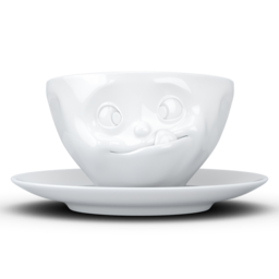 "Coffee Cup ""Tasty"" white, 200 ml"