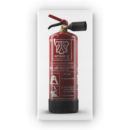 Art on Canvas Fire Extinguisher 40cm x 20cm