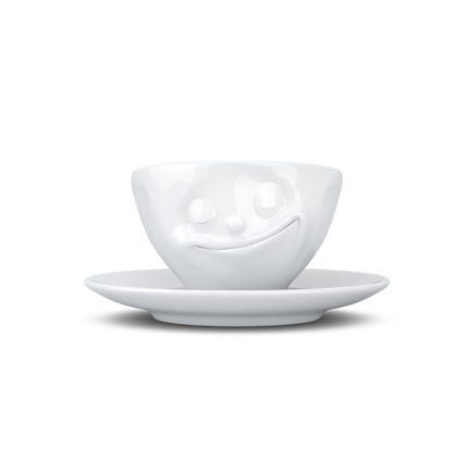Espresso cup, happy, white