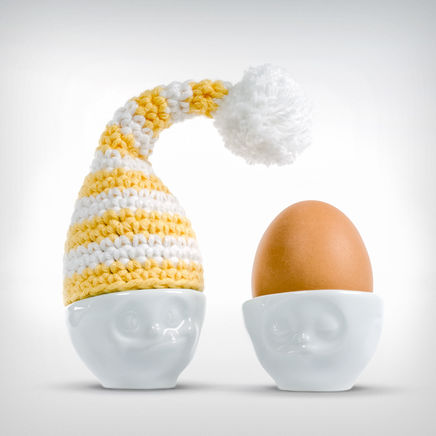 Good Night Cap Egg hat apricot/white