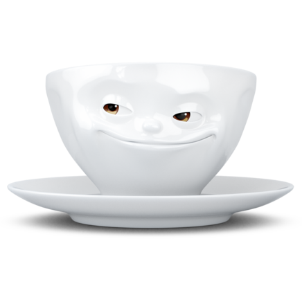 "Coffee cup ""Grinning"" with colorful eyes, 200 ml"