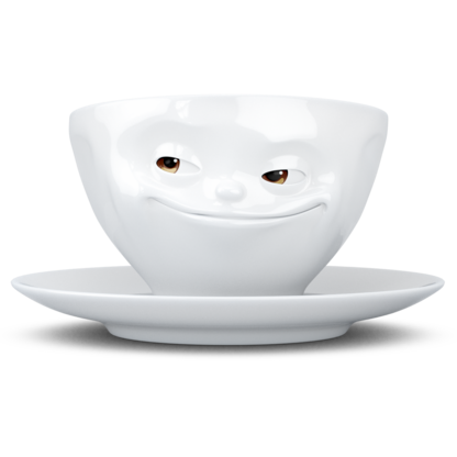 Coffee cup - Grinning, with colorful eyes